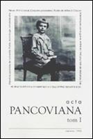 Acta Pancoviana nr 1.