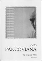 Acta Pancoviana nr 4.