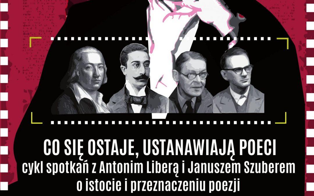 """""""Hölderlin, Kawafis, Eliot, Szpotański."""" Antoni Libera i Janusz Szuber czytają wybitnych poetów"""